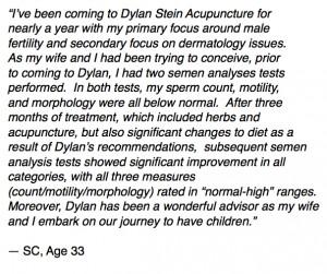 Male Factor Infertility Patient Testimonial for Dylan Stein