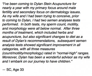 Male Factor Infertility Patient Testimonial for Dylan Stein